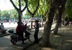 Auf dem Campus der Anhui University in Hefei