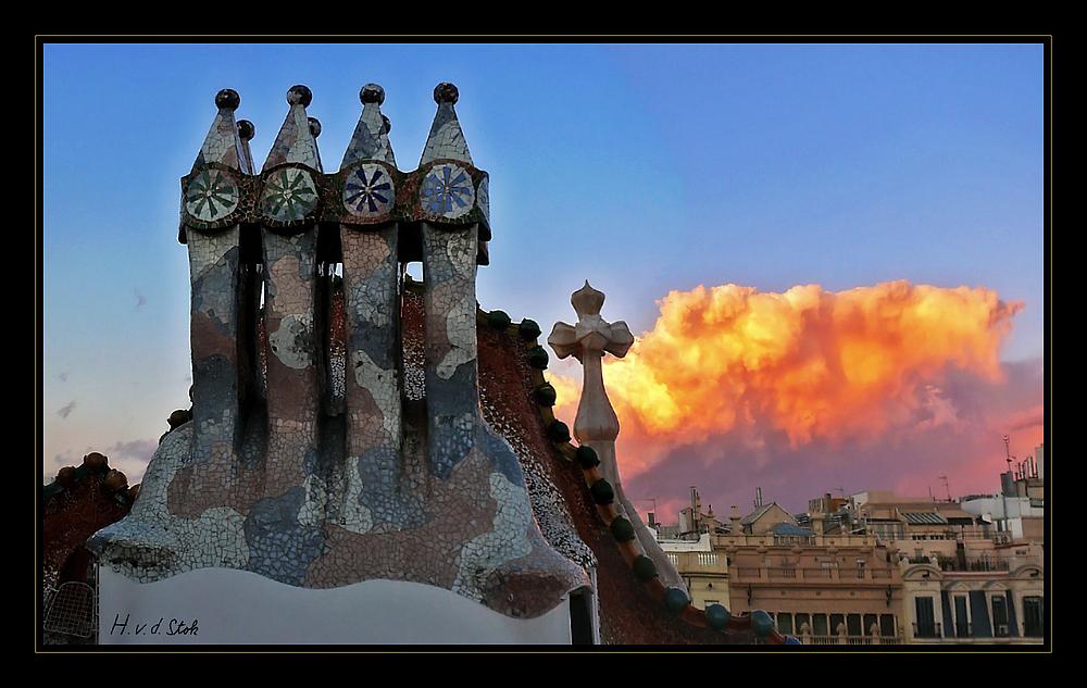 Auf dem Dach der Casa Batlló