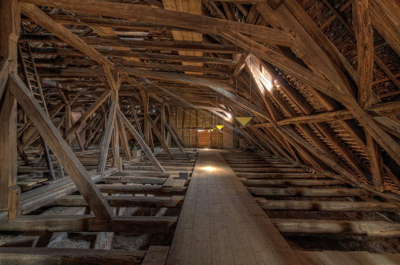 Auf dem Dachboden der Stadtkirche St. Marien