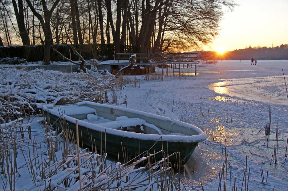 Auf dem Eis des Groß-Glienicker Sees, 11.01.09 – 08