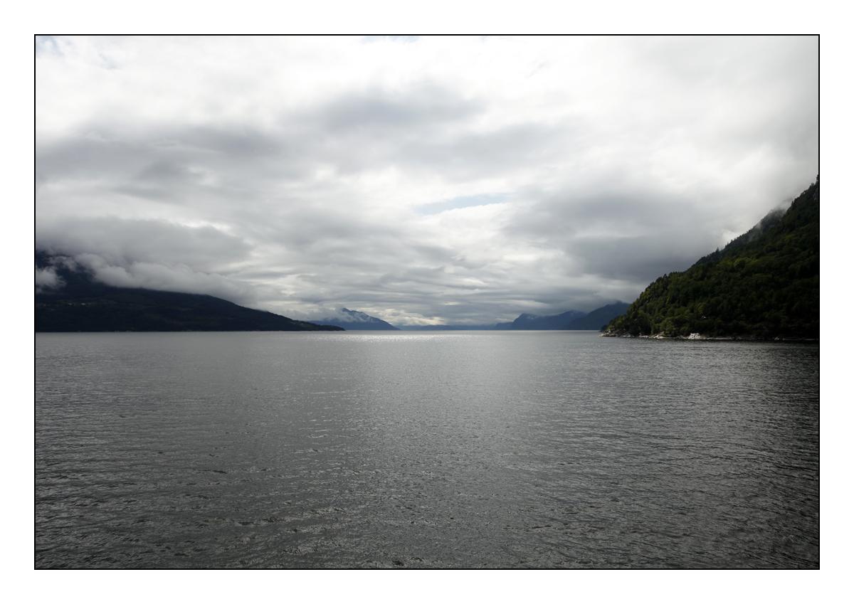 Auf dem Fjord