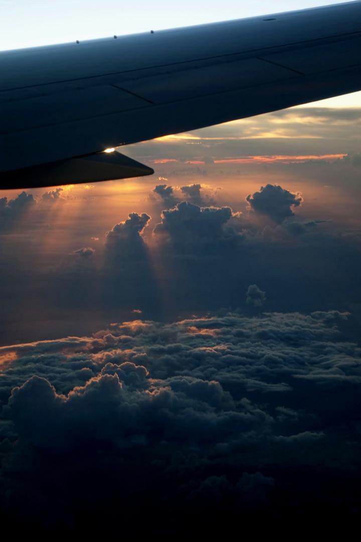 Auf dem Flug zu Perle der Karibik CUBA
