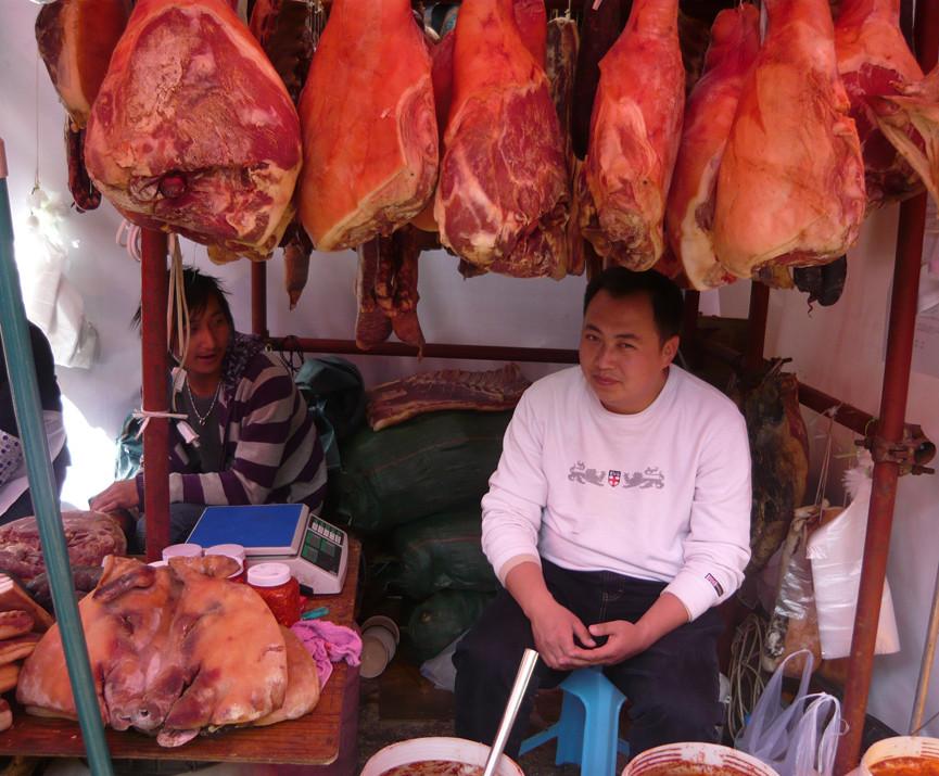 Auf dem Fruehlingsfestmarkt in Kunming
