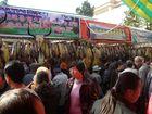 Auf dem Fruehlingsfestmarkt in Kunming: Yakfleisch aus Shangri-La