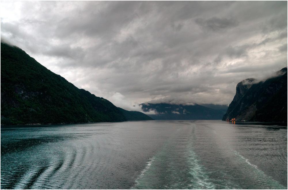Auf dem Geiranger Fjord