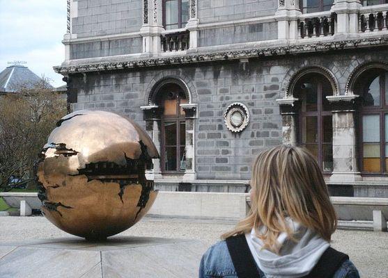 Auf dem Gelände des Trinity College in Dublin
