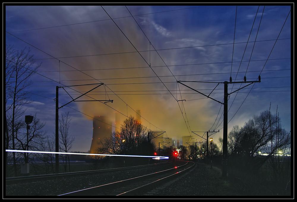 auf dem gleis nach niederaußem*