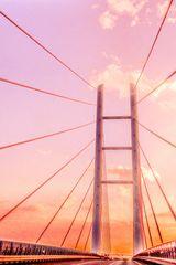 auf dem Höhepunkt der Rügenbrücke