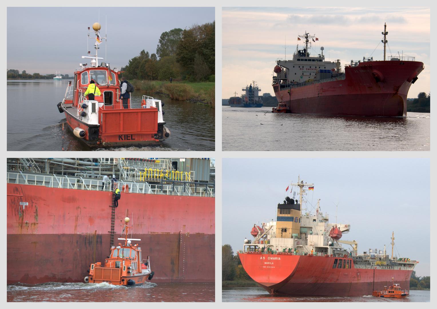 Auf dem Kiel-Kanal , ein kommen und ein gehen ,.....