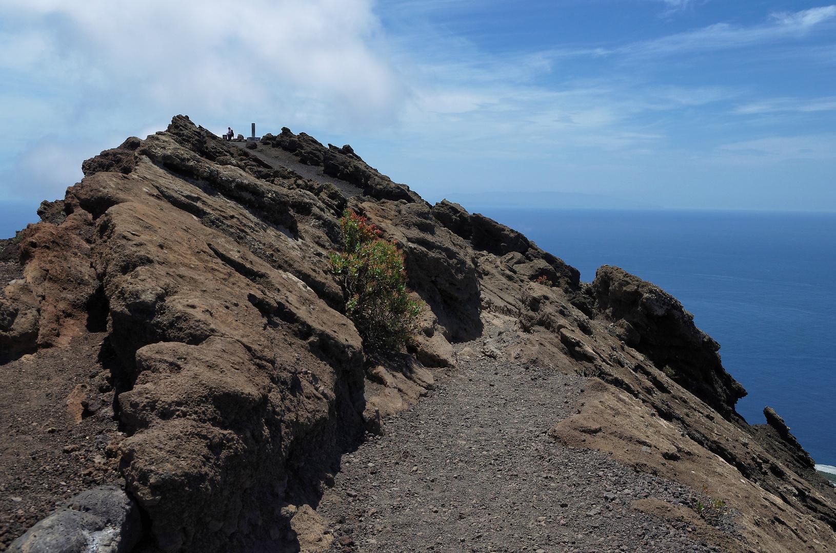 Auf dem Kraterrand des San Antonio, La Palma, Mai 2012