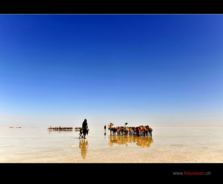 Auf dem Lake Asale