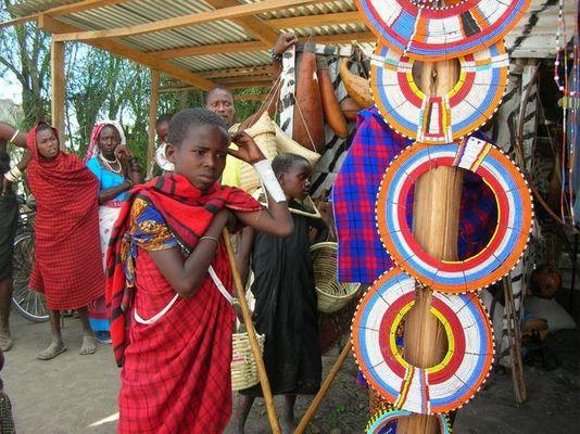 Auf dem Maasai-Markt