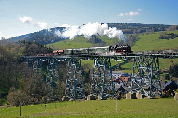 auf dem Markersbacher Viadukt