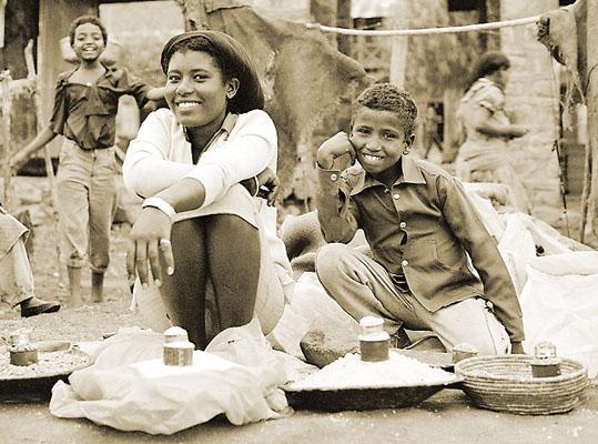 Auf dem Markt in Asebe Teferi / Äthiopien