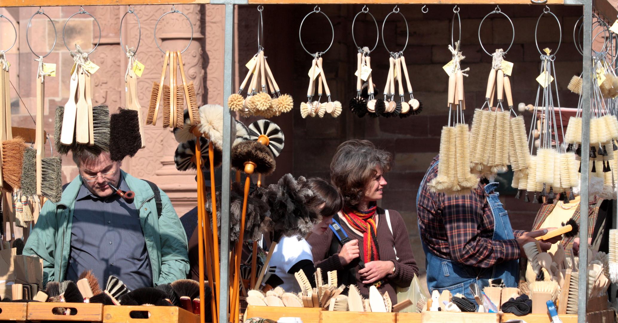 Auf dem Markt in Freiburg (Meiner absoluten Lieblingsstadt!!!)