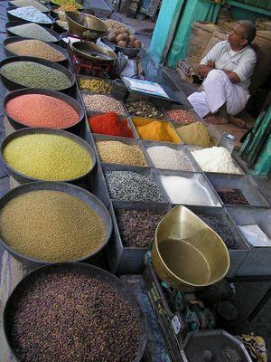 auf dem Markt in Jaipur