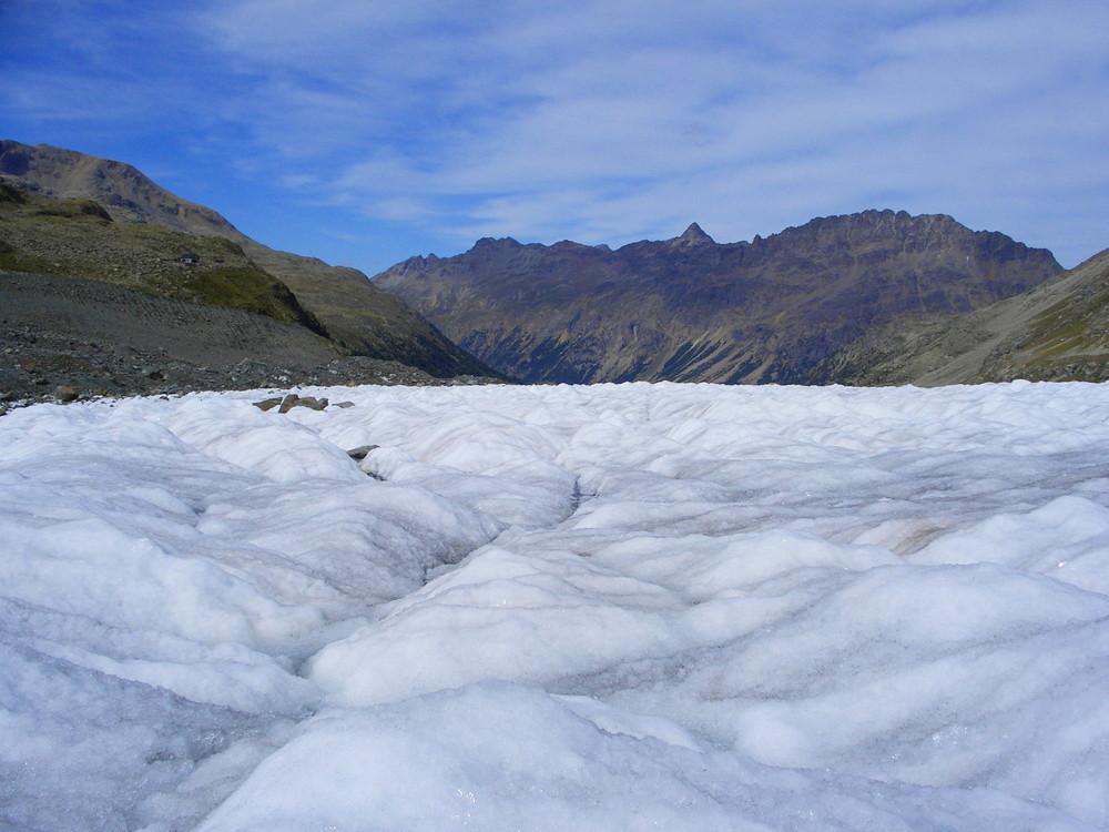 auf dem Morteratsch-Gletscher