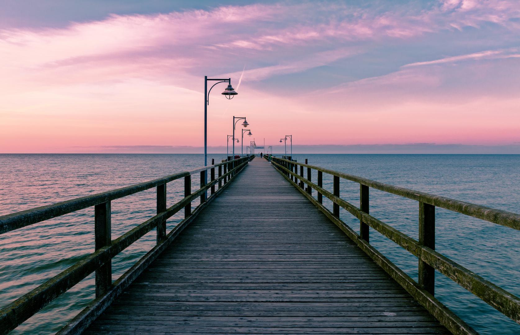 Auf dem Pier
