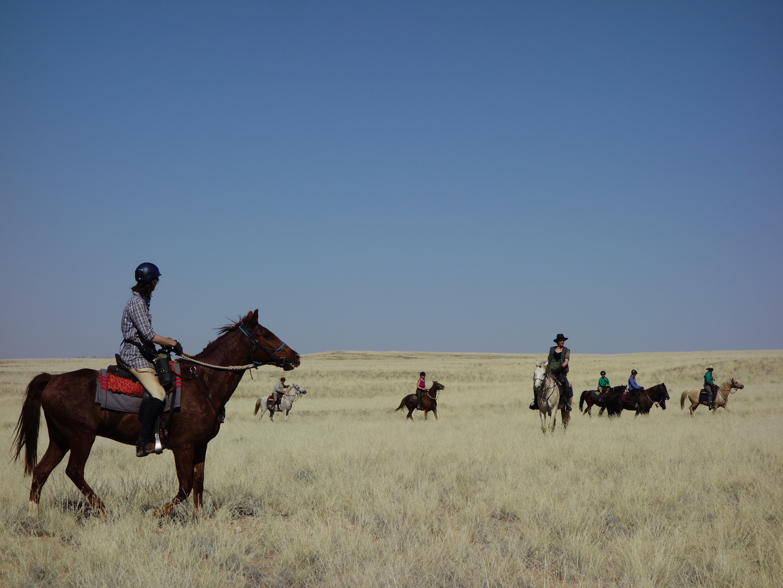 Auf dem Ruecken der Pferde durch die Namib