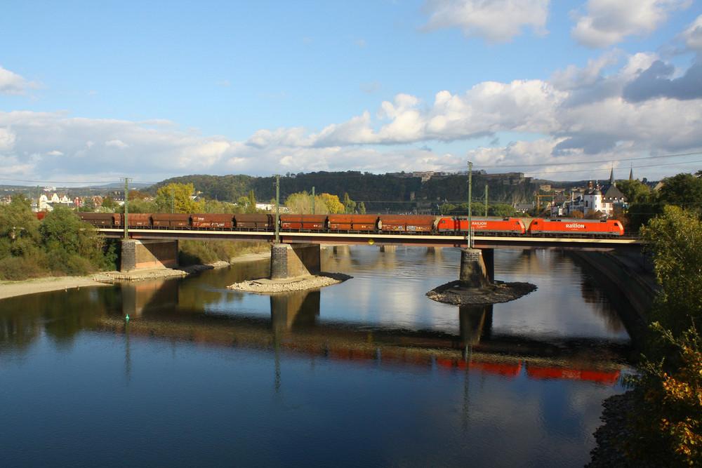 Auf dem Rückweg durch Koblenz