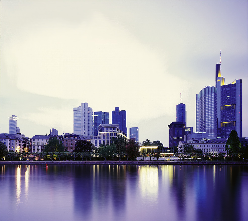 auf dem Rückweg Stop in Frankfurt