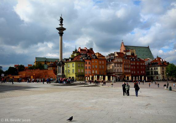Auf dem Schlossplatz in Warschau