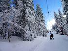 Auf dem Skilift ...