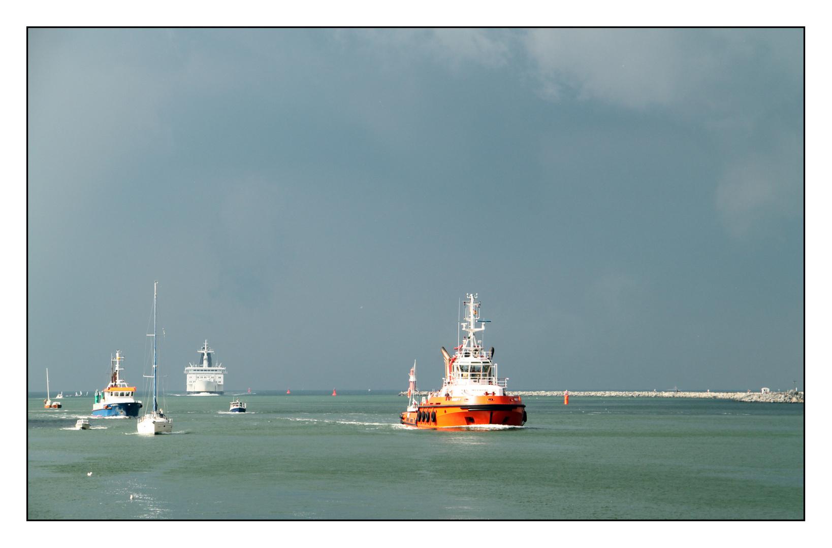 auf dem Weg in den Hafen