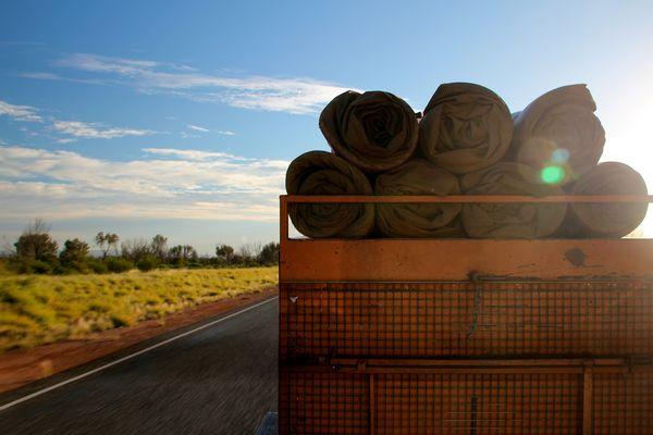 Auf dem Weg ins australische Outback...