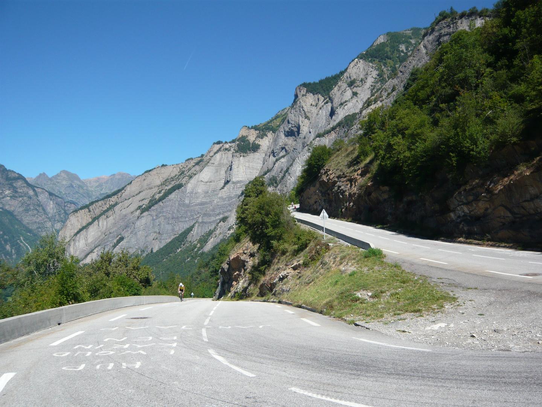 Auf dem Weg nach Alpe d´Huez in Kehre 20