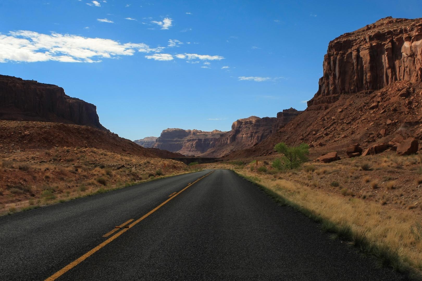 auf dem Weg nach Monument Valley