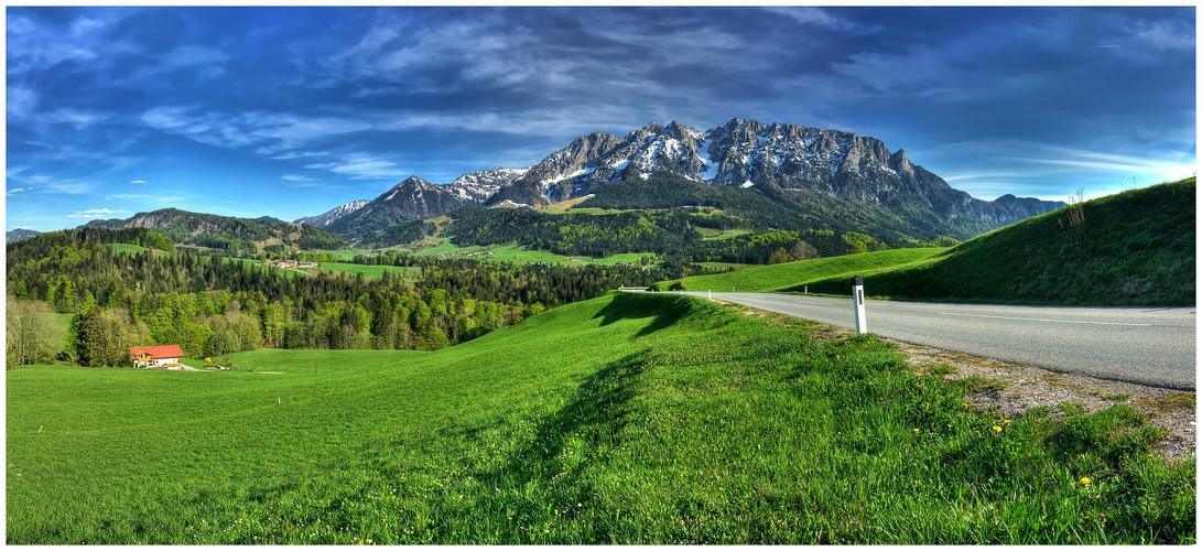 Auf dem Weg nach Tirol II Panorama
