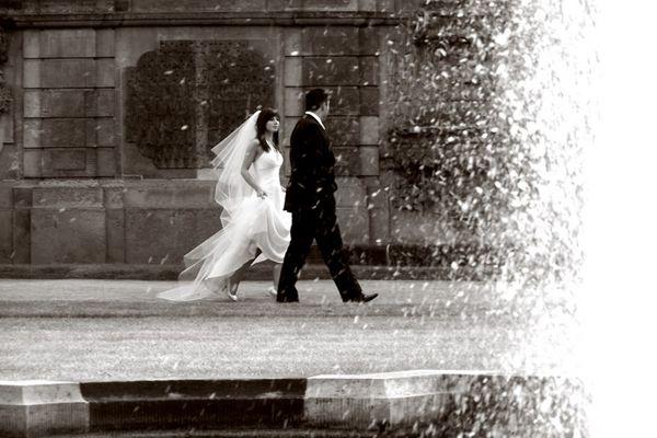 Auf dem Weg zu den Hochzeitsbildern