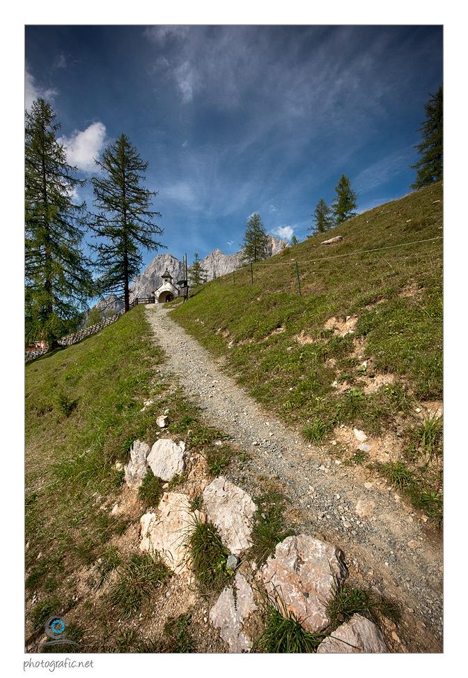 Auf dem Weg zum Dachstein-Kircherl