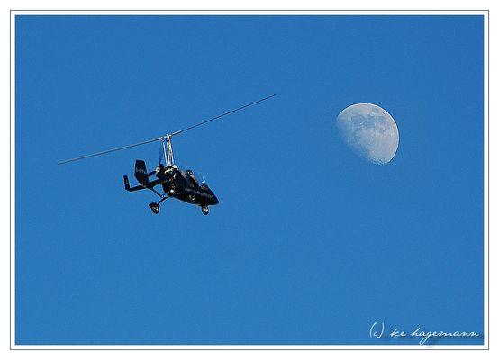 ...auf dem Weg zum Mond.
