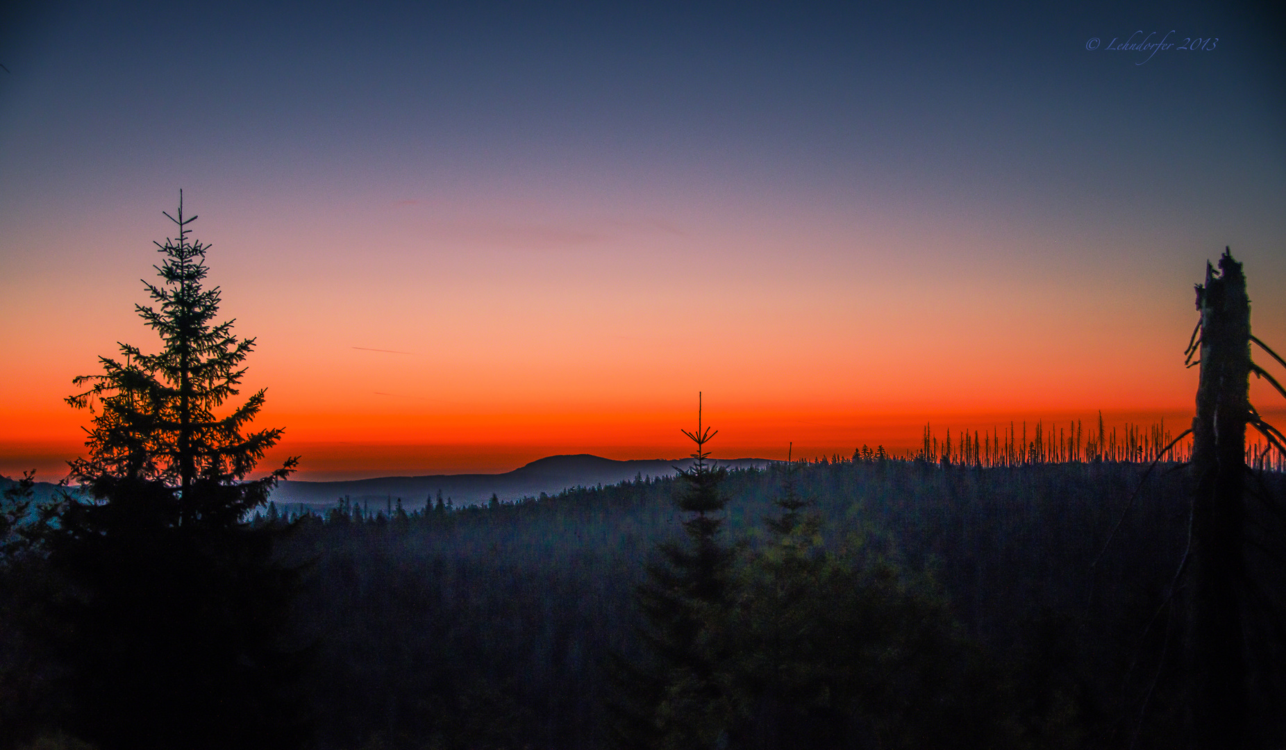 auf dem Weg zum Sonnenaufgang...