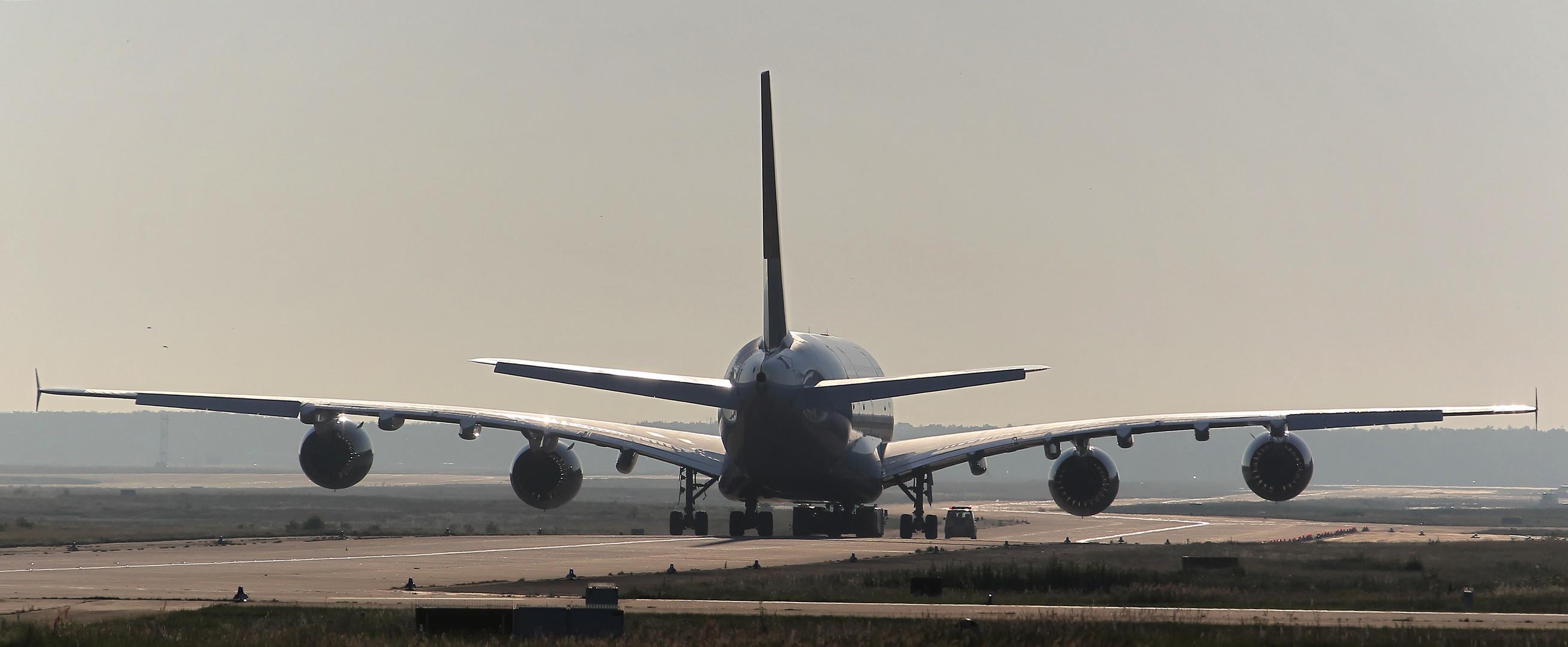 Auf dem Weg zur A380 Werft