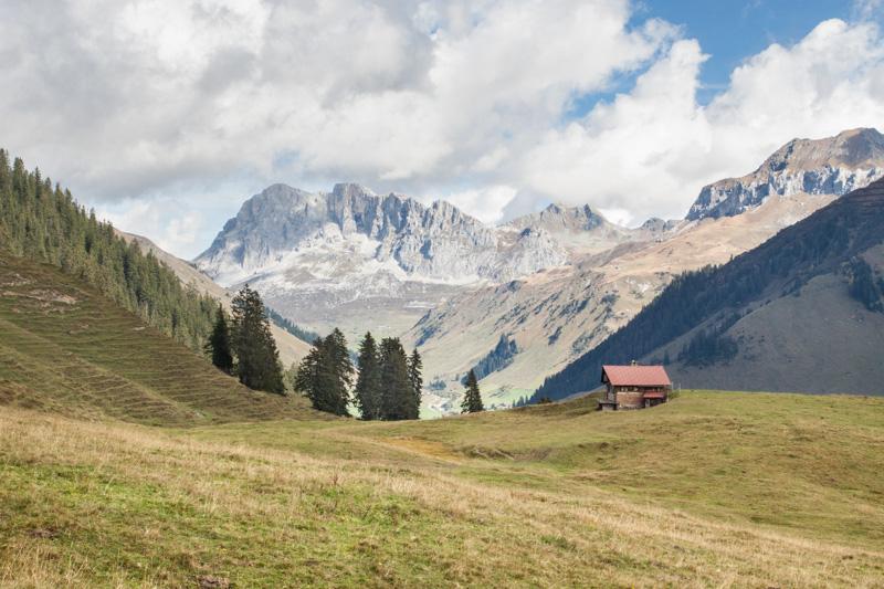 Auf dem Weg zur Alp Valpun
