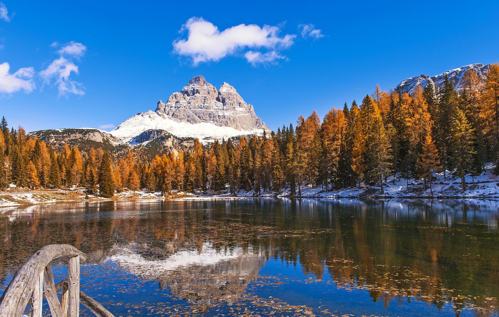 Auf dem Weg zur Aronzo Hütte - Südtirol