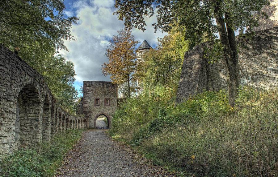Auf dem Weg zur Burg Plesse