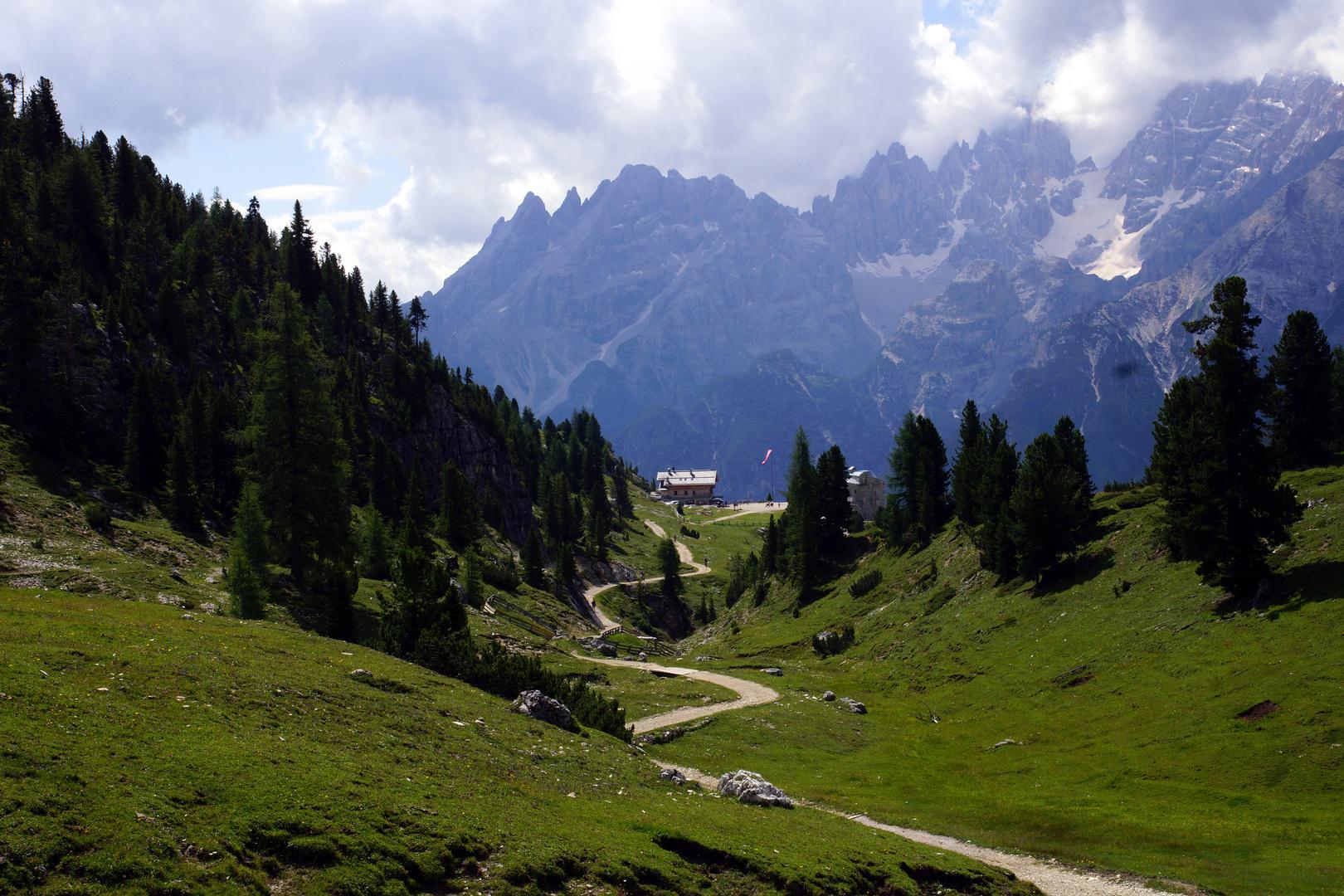Auf dem Weg zur Dürrensteinhütte........ Südtirol