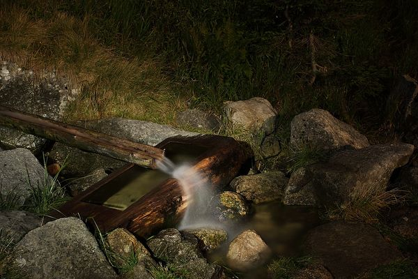auf dem Weg zur Elbquelle - in der Nacht
