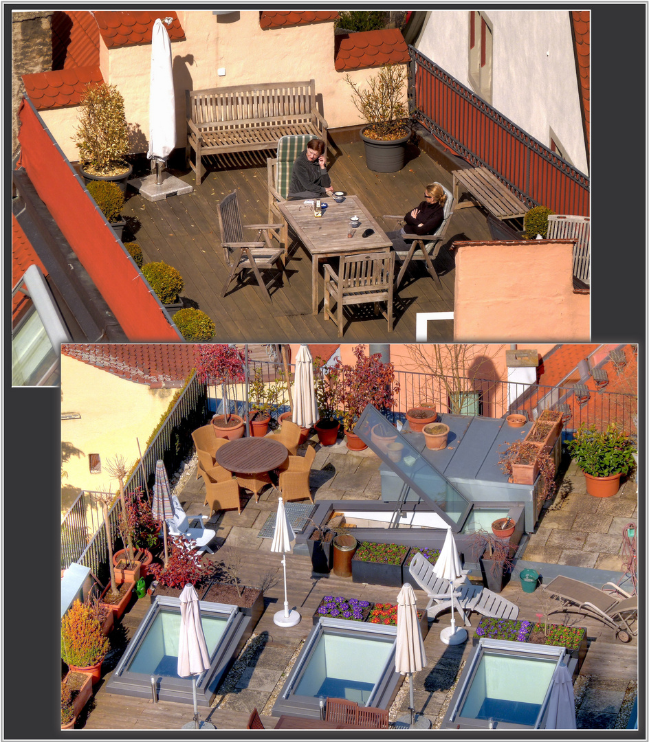 Auf den Dächern . . .