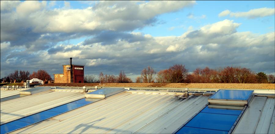 Auf den Dächern des Walzwerks