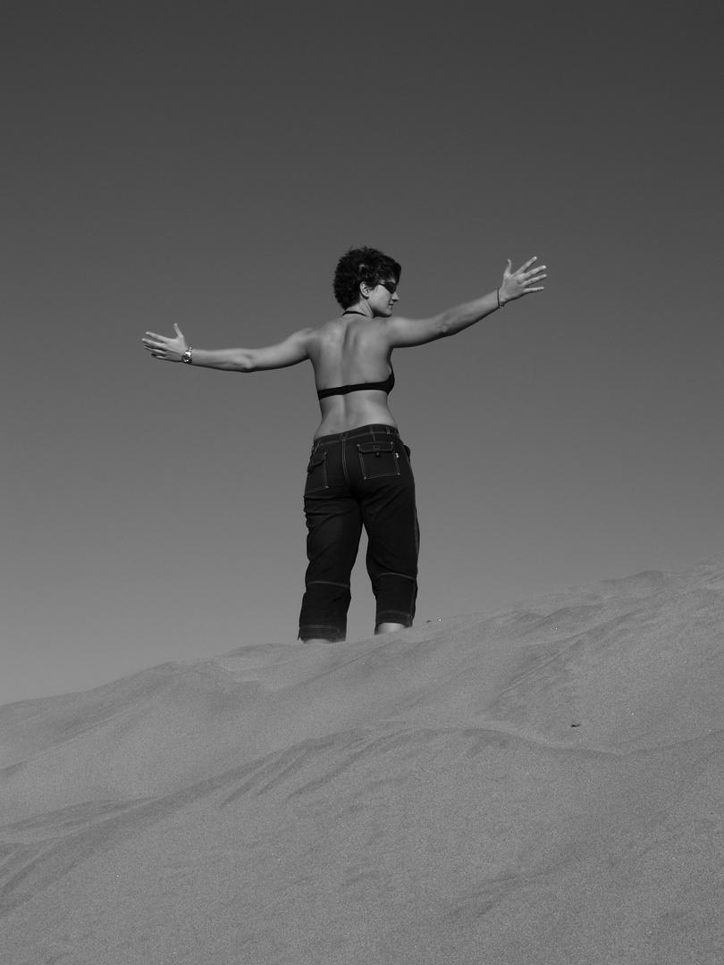 Auf den Dünen am Playa del Inglés auf Gran Canaria