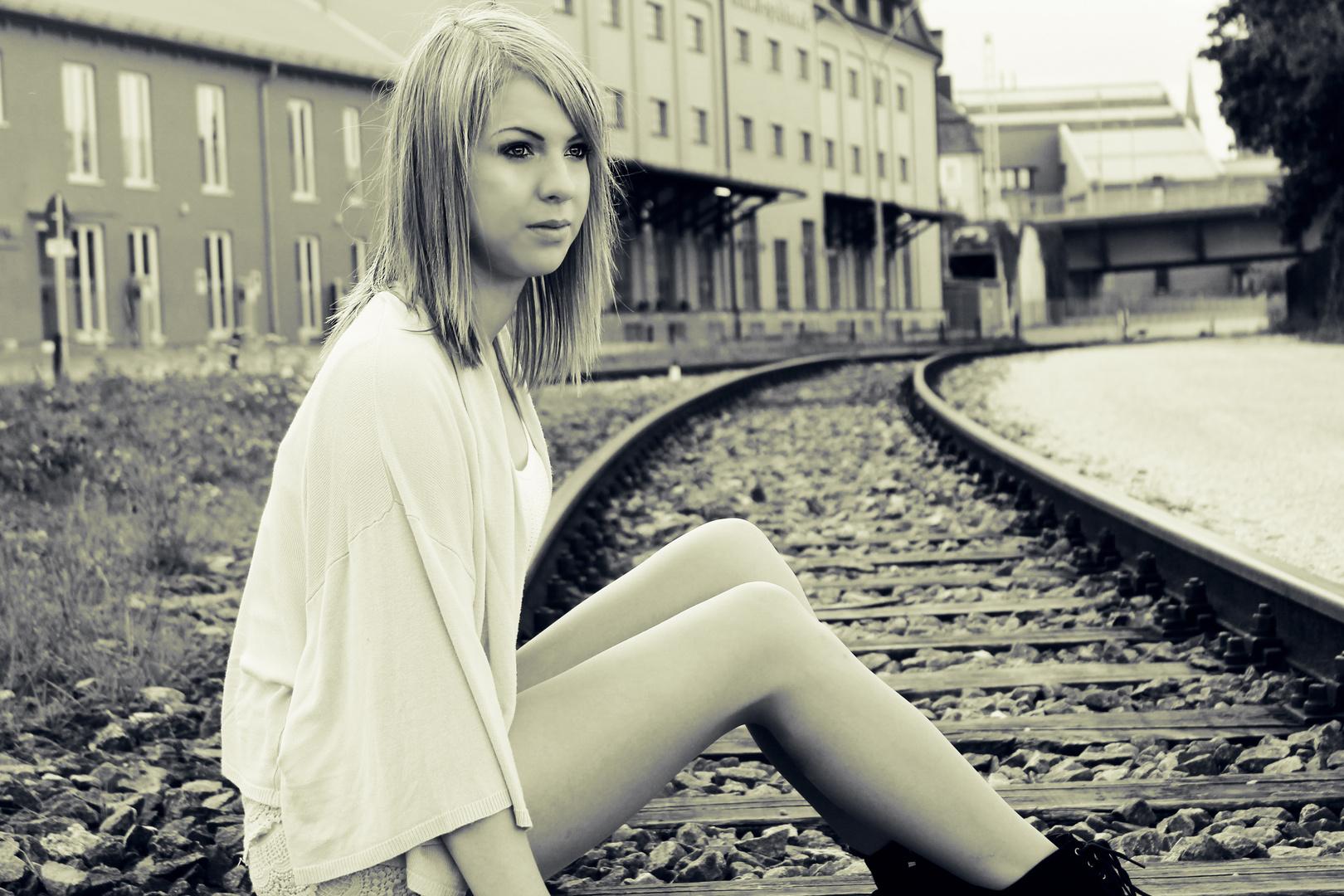 Auf den Gleisen...