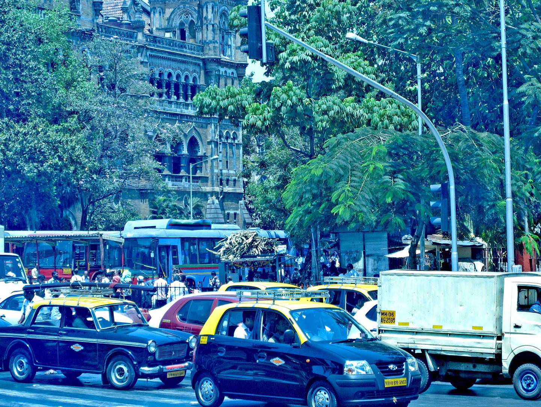 Auf den Strassen von Bombai....