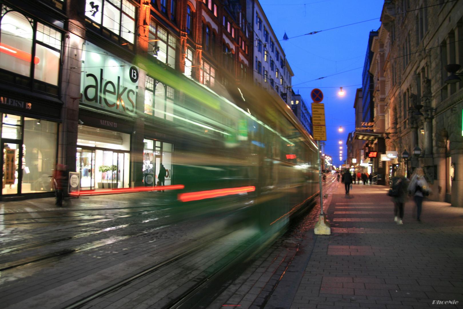 Auf den Straßen von Helsinki