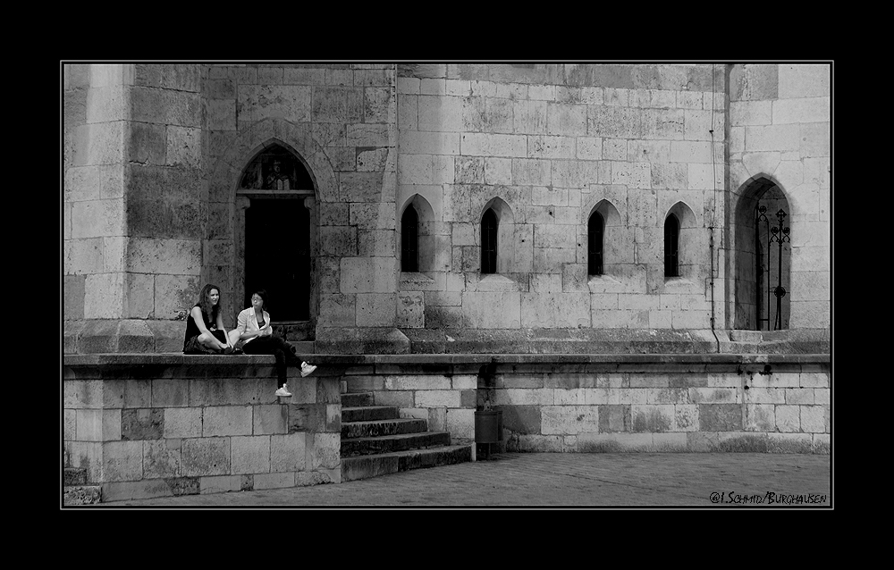 auf den Stufen des Regensburger Dom`s