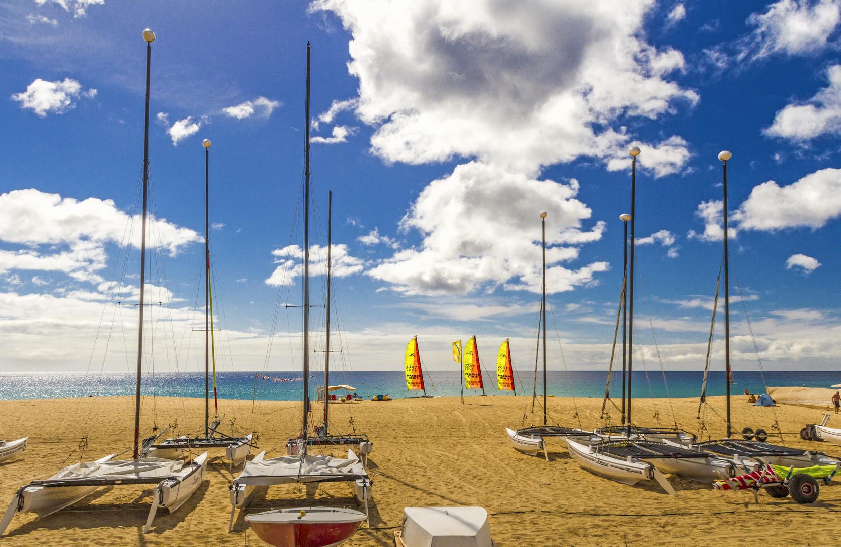 Auf den Wind warten am Strand von Morro Jable - Fuerteventura